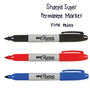 3pcs/Lot Sharpie Permanent Marker SUPER High Capacity Ink Paint Markers for Tire CD Plastic Metal Wood School Supplies