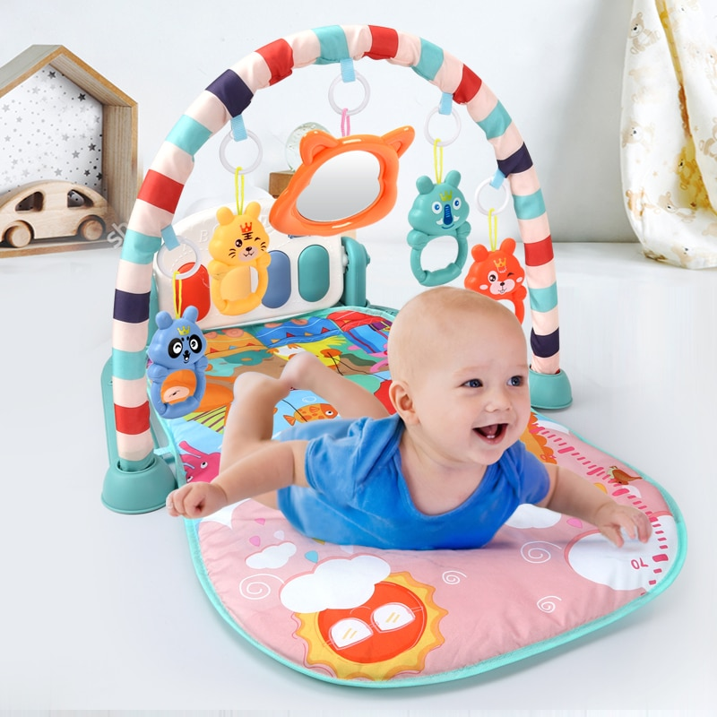 Baby Play Mat Educational Puzzle Carpet With Piano Keyboard Lullaby Music Kids Gym Crawling Activity
