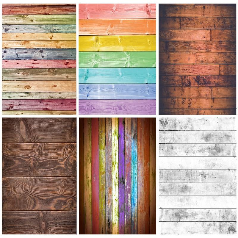 Wood Floor Wooden Board Texture Photography Backdrops Props Vintage Newborn Baby Portrait Photo Studio Background 21318WQ-09