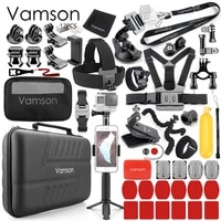 Vamson for Gopro Hero 7 6 5 Black Camera Accessory set for DJI OSMO Action for Xiaomi yi 4K Tripod Accessories Kit VS59