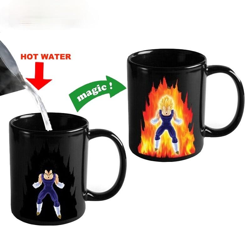 الإبداعية اللون تغيير القدح 300 مللي لعبة دراغون بول Z فيغتا قدح قهوة من السيراميك كوب حليب كوب قهوة للسفر أكواب شاي وأكواب