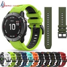 22mm WatchBand for For Garmin Forerunner 945 935 Fenix 5 Plus Fenix 6 6 Pro Silicone Smart Watch Ban