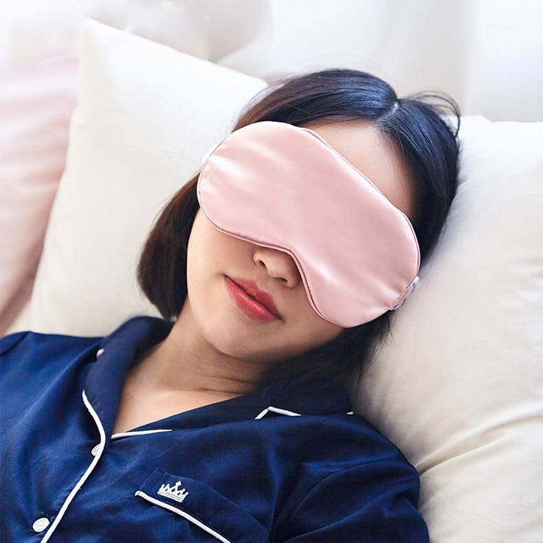 100% 16 Momme тутового шелка Двусторонняя затеняющая маска для глаз маска для сна повязка на глаза защита для сна
