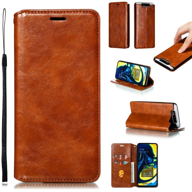 Кожаный флип-чехол с картой для Samsung Galaxy A8 A7 A6 A5 2018 A90 A80 A70 A60 A50 A40 A30 A20 A10 S E A750 A530 A202 M30 M20 M10