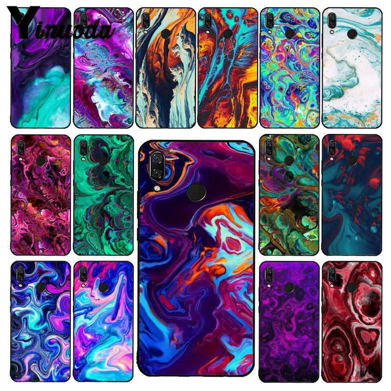 Yinuoda fibra arte tecido artificial, azul roxo atlético phonecase para xiaomi redmi note 7 8t redmi 5plus 6a 4 4x note8pro