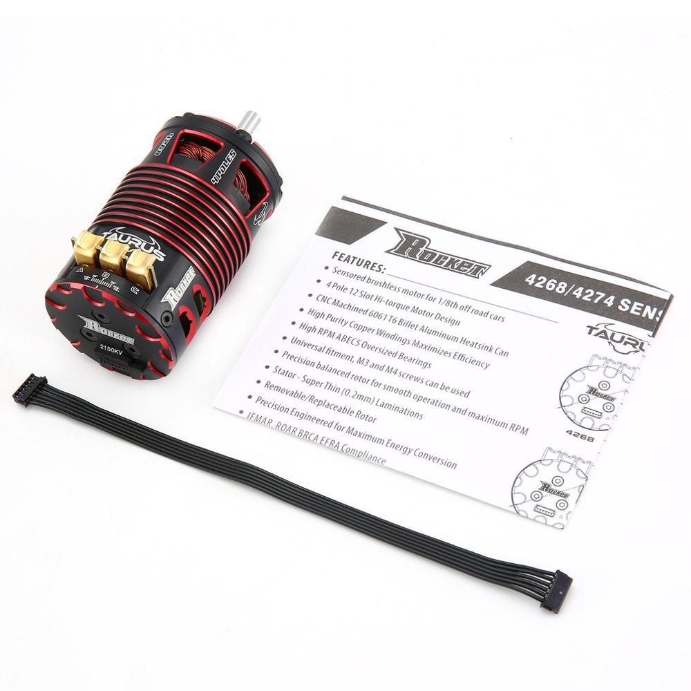 Rakete 4268 4274 V2 2700KV 2350KV 2000KV 1850KV 1550KV 2200KV 1950KV Sensored Bürstenlosen Motor für 1/8 RC On-road off-road Aut enlarge