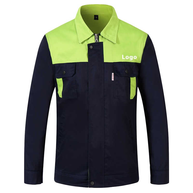 Workwear Suit Men And Women Long Sleeve Mixed Color Workshop Uniforms Custom Printing Company Text Unisex Working Clothes Jacket  - buy with discount