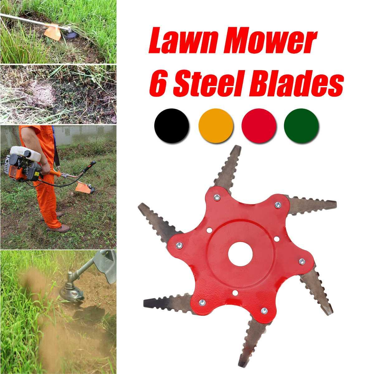 6 Teeth Grass Trimmer Head Brush Cutter Steel Garden Tool Strimmer Lawn Mower Blade