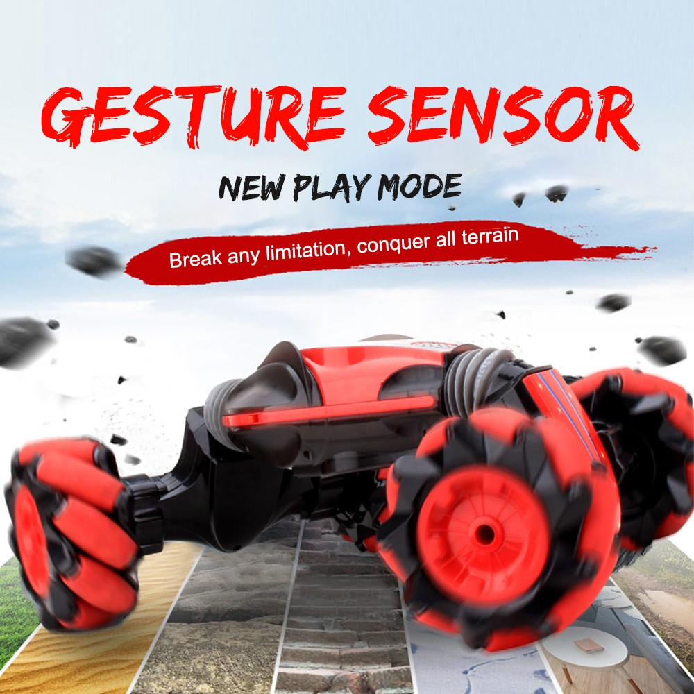 RC Car Light Music Remote Control Transformer Car4WD Double Sided Stunt Car Gesture Sensor Watch Control Drift Toy for Kids enlarge