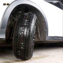 4PCS Car Tyre Anti-Skid Chains Universal Black Wearproof Wheel Tire Anti-Skid Chain Adjustable Emergency Chain For Car Truck SUV