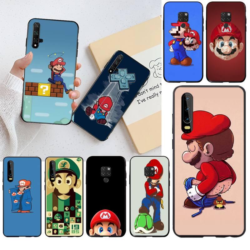 Super Mario Bros, funda de teléfono Bling pintada DIY para Huawei P40 P30 P20 lite Pro Mate 20 Pro P Smart 2019 prime