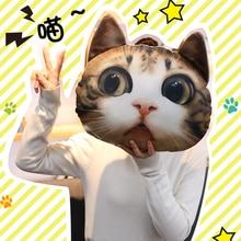 36*36 см Новая 3d подушка для кошки индивидуальная Автомобильная подушка кошачья форма спящий Смайлик Подушка милое сиденье плюшевая кукла иг...