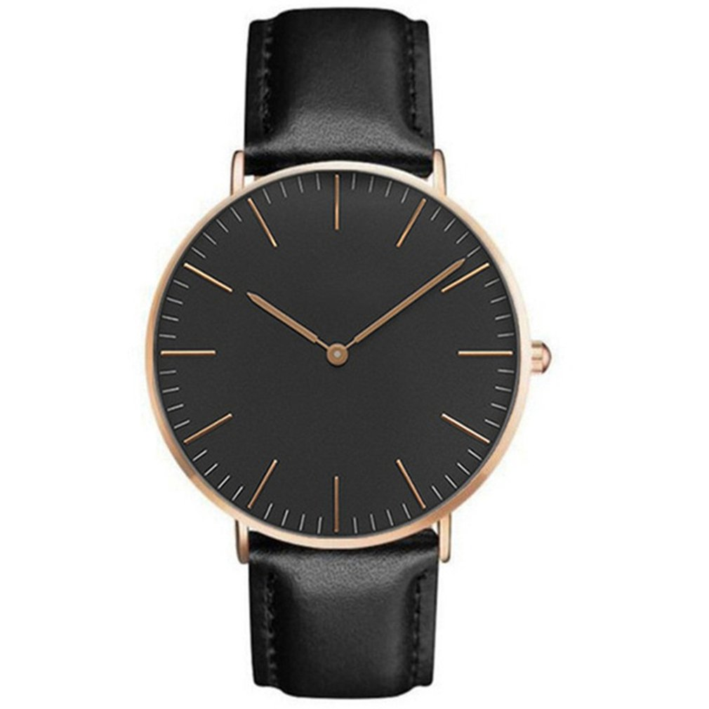 Retro Watch Student Watch Simple Round Dial Pointer Leather Strap For Men And Women Birthday Present