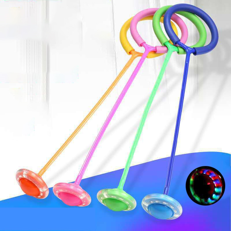 Flash Jumping Rope Ball Kids Outdoor Fun Sports Toy LED Children Jumping Force Reaction Training Swing Ball Child-parent Games