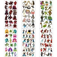 6pcslot transfer tattoo kids tatoo fake women chest temporales mujer body temporaire femme cool tattoos for hand sticker tato