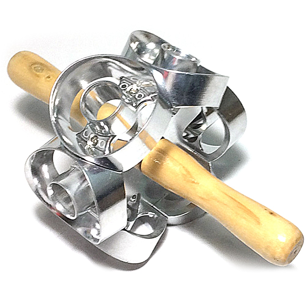 Rotary Doughnut Cutter Mold Pastry Dough Baking Stainless Steel Mold Kitchen Tool Accessories High Quality Easy To Use high quality stainless steel cheese separator butter cutter scraper blade baking tool kitchen accessories cutting machine