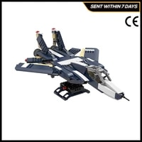 moc 38032 f 14 tomcat star space series fighter military series weapon building blocks bricks toys for kids gifts