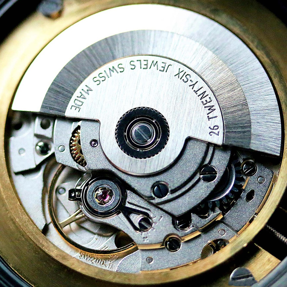SW200-1 Automatic Self-Winding Mechanical Movement Hacking/Quickset Date Sellita Original SW200 (2824) 26 Jewels Swiss Made Movt enlarge