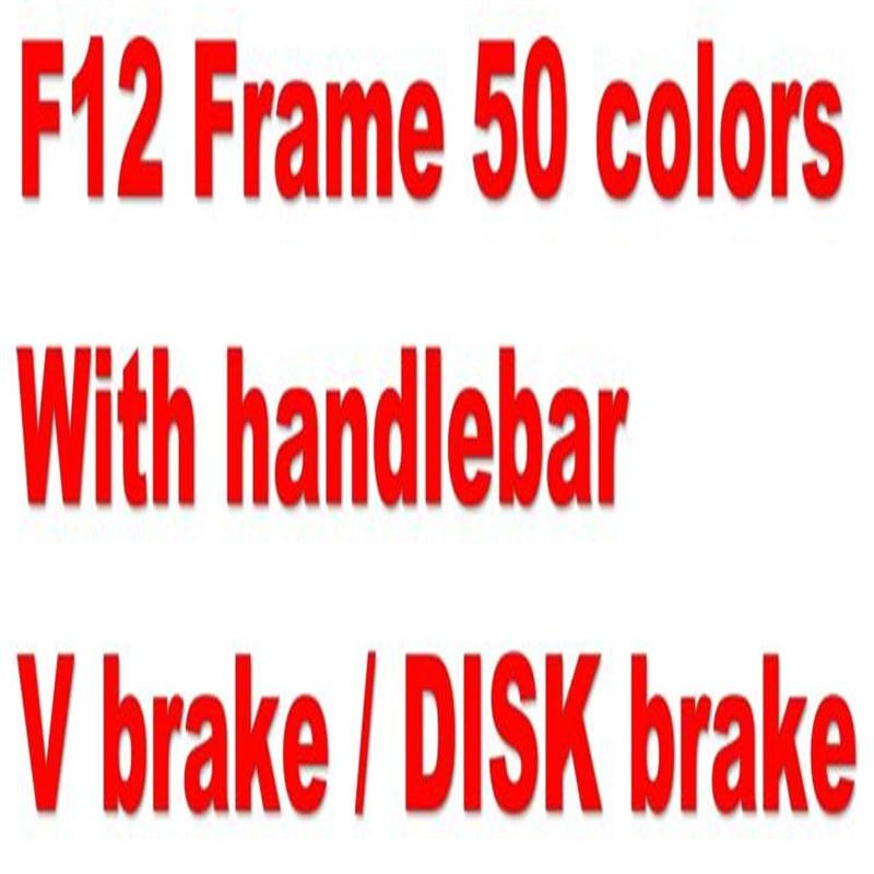 handlebar + V BRAKE DISK F12 carbon bike frame Full carbon fiber Road bike bicycle frame