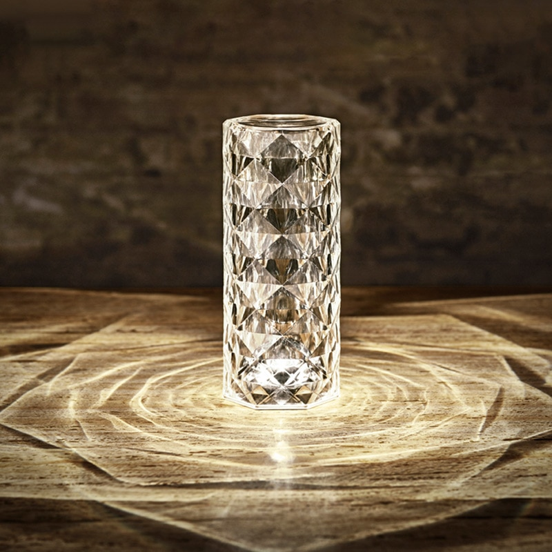 Spain Decoration Imported Light Luxury Touch European Crystal Table Lamp Living Room Diamond Restaurant Christmas Ambient Light