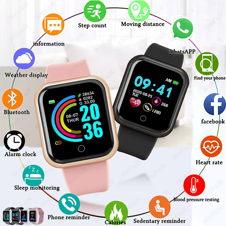 2021 Smart Watches Men Women Smartwatch Heart Rate Step Calorie Fitness Tracking Sports Bracelet For