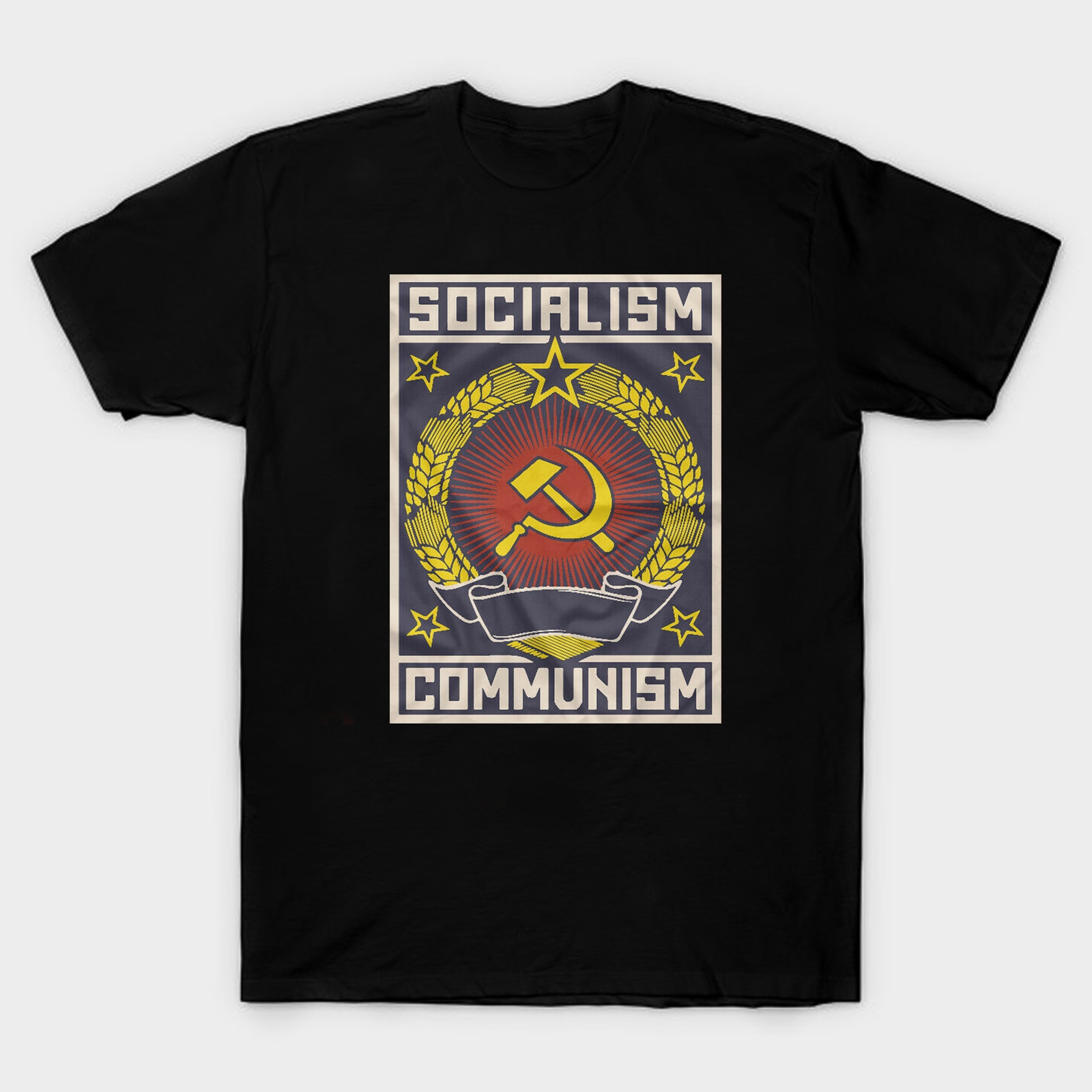 Soviet Union USSR CCCP Hammer and Sickle Socialism Communism T-Shirt. Summer Cotton Short Sleeve O-Neck Unisex T Shirt New S-3XL недорого