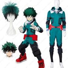 Anime Cosplay Boku non mon héros académie académique combinaison vestes Izuku Midoriya perruque masque costume de gymnastique uniformes scolaires Costumes