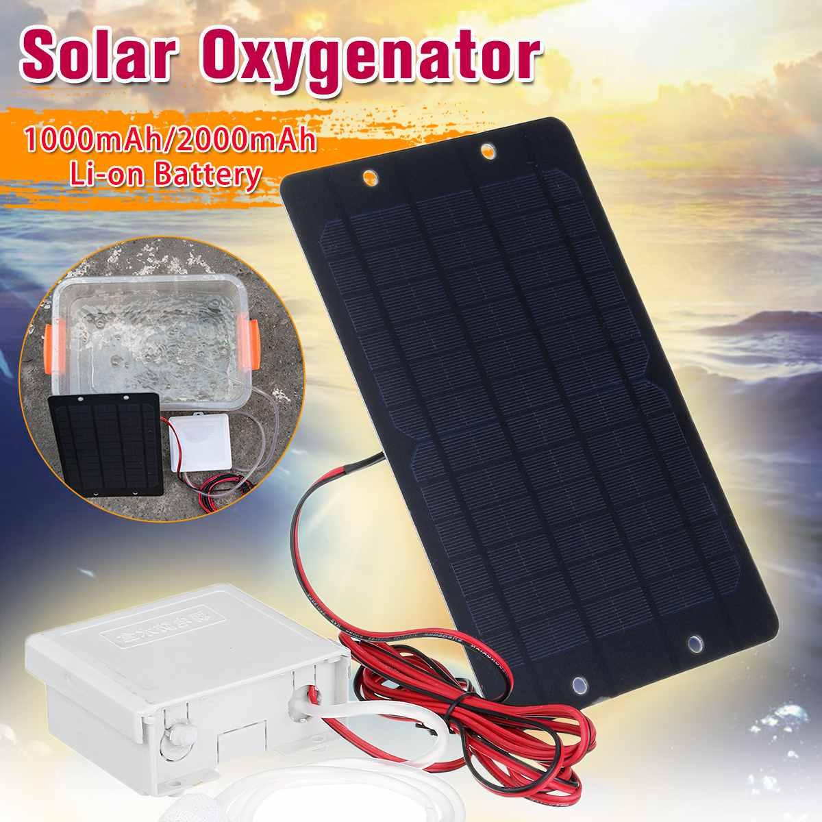 5W Solar Panel Wasser Sauerstoff Pumpe für Aquarium Angeln Tank Teich Oxygenator Belüfter Luftpumpe Wiederaufladbare