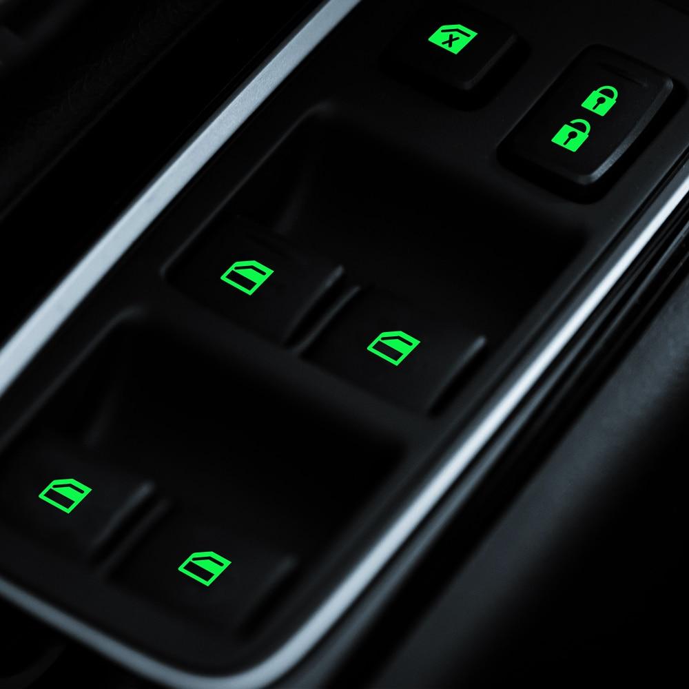 Adesivo luminoso de botão de elevação de janela, para porta de carro suzuki sx4 girar alto liane grand vitara jiny s-cross splash kizashi