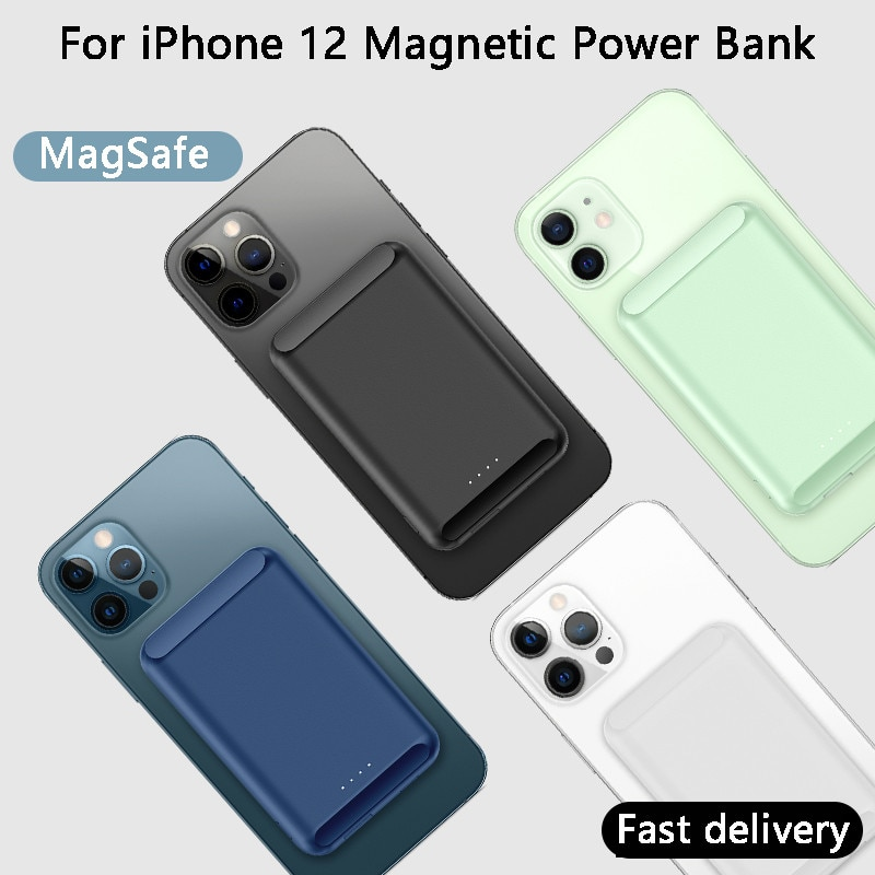 For iphone 12 pro Max 12 mini Magsafe Wireless Charging treasure Ultra-thin Magnetic Charger Power B