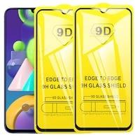 Kaca Tempered 9D 2-1 Buah untuk Samsung Galaxy M01 M21 M31 A21s A11 A31 A51 A71 Kaca Pelindung untuk Galaxy M 21 M215f 31 M015f