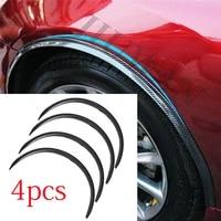 4 pcs universal car fender anti scratch protector strip lip decal fender flare rubber wheel eyebrow decor sticker car body trim