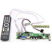 Latumab New LCD LED screen Controller Driver Board Kit For B156XW02 V.2 TV+HDMI+VGA+USB  14 / 15.6inch 1366X768 40pins