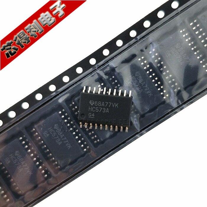 10 pçs/lote Original SMD Hc573a Sn74hc573adwr SOIC-20-Tipo D Transparente Trava Chip