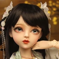 60cm bjddoll gifts for girl chinese doll with clothes black hair free eyes diy doll valentines daybirthday gift for children