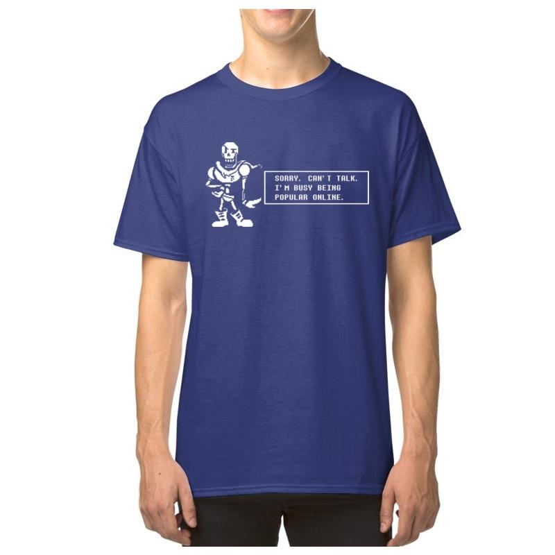 Undertale Papyrus Tops & Tees Men Funny Tshirt Popular Online Short Sleeve T-shirts Cotton Game T Shirt Custom Hip Hop Tees Sans