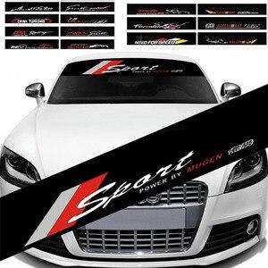 Car Front Rear Sunshade Window Decal Sticker For Bmw E46 E90 E60 E39 E36 F30 Lada Granta Chevrolet Cruze Lacetti Lexus NX RX EX