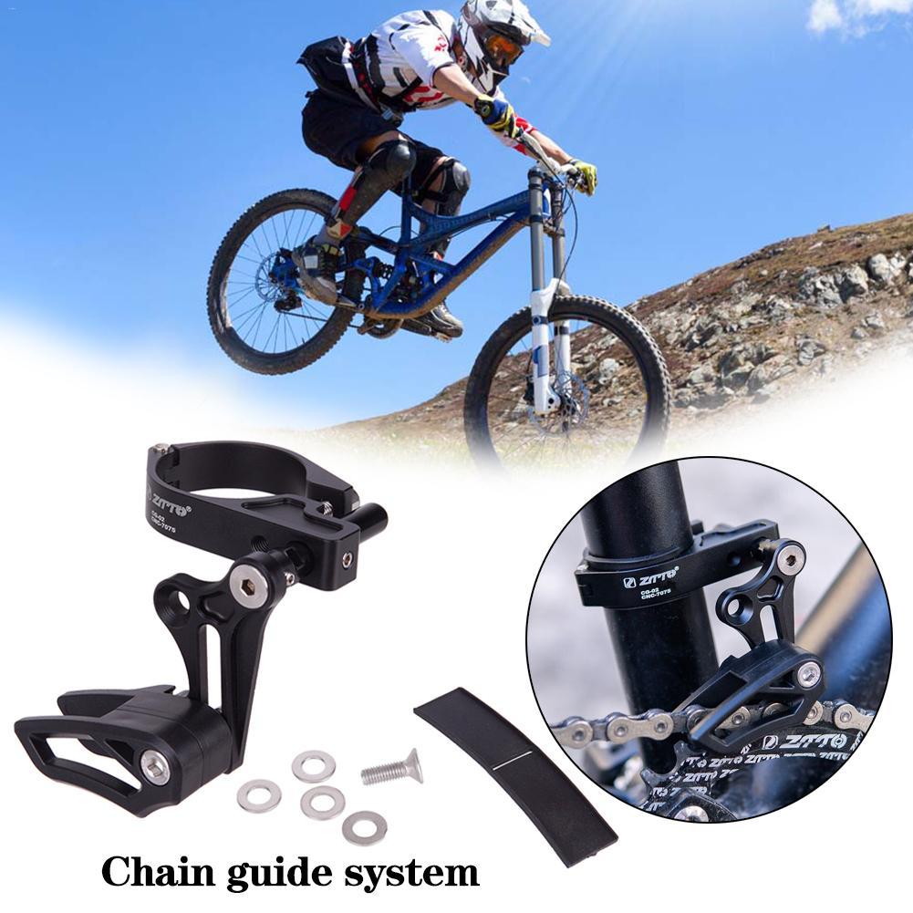 Guía de cadena de bicicleta MTB guía de cadena de bicicleta 1X sistema ISCG 03 ISCG 05 BB montaje CNC de una sola velocidad ancho estrecho equipo de guía de la cadena