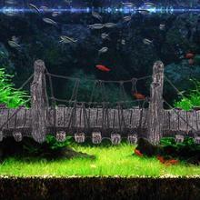 1 pièces Imitation pont décor pour Aquarium ornements Aquarium paysage bois couleur ponts