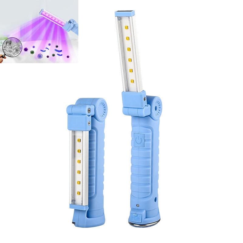 XANES Dual Chip UVC+UVA 270-280nm Disinfection UV Lamp Magnetic Suction 360° Rotation LED Sterilizing Lantern Germicidal