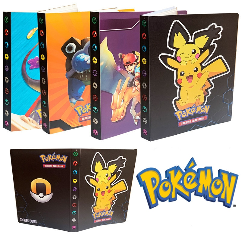 Pocket Pokemon 240 Card Album Playing Game Liver Pokémon VMAX GX Map Loaded List Book Binder Collection Protection Holder Toy