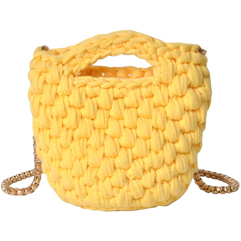 MiMini inclinado a través de la vendimia, hecha a mano, bolsa tejida manual con cubo, tela de hilo de ganchillo, monedero, bandolera