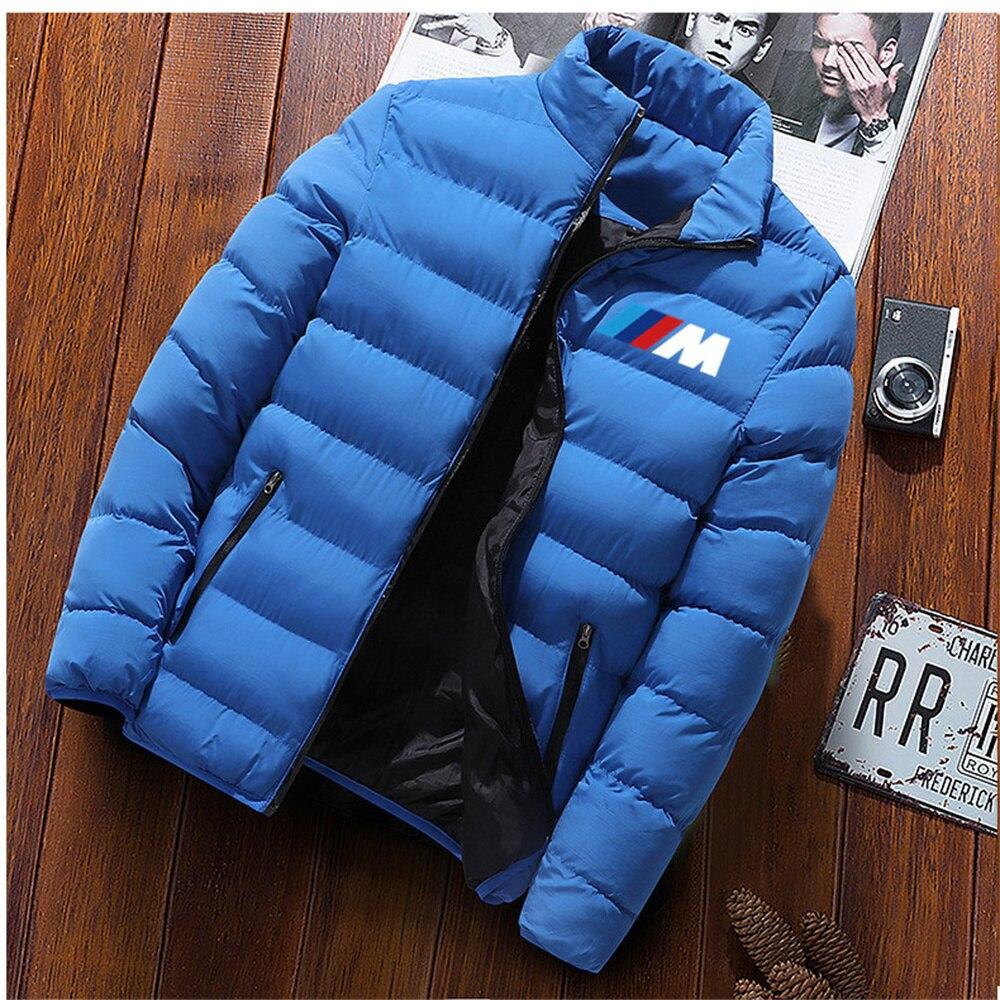 Зимняя мужская куртка, модная мужская куртка с воротником-стойкой, уличная Мужская однотонная утепленная куртка для кемпинга, Мужская парк...