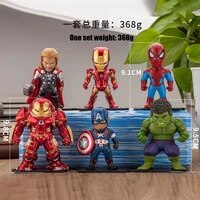 marvel the avengers exquisite figure car decoration model captain america spider iron man hulk thor the best gift for a friend