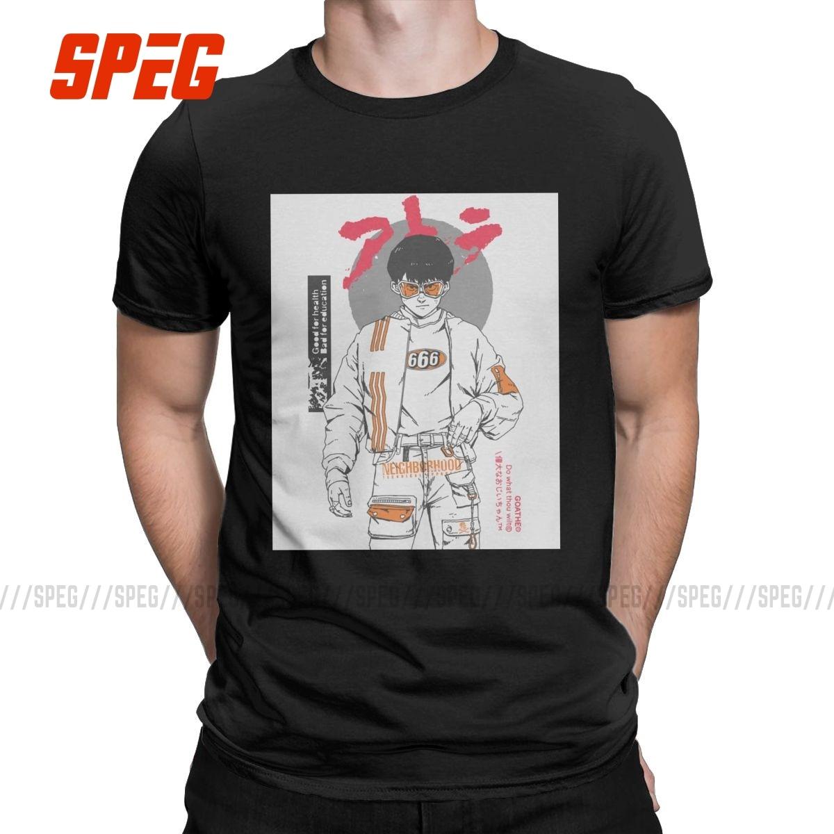 Kaneda Solo Akira Manga camisetas hombres 100% de algodón Humor Camiseta de...