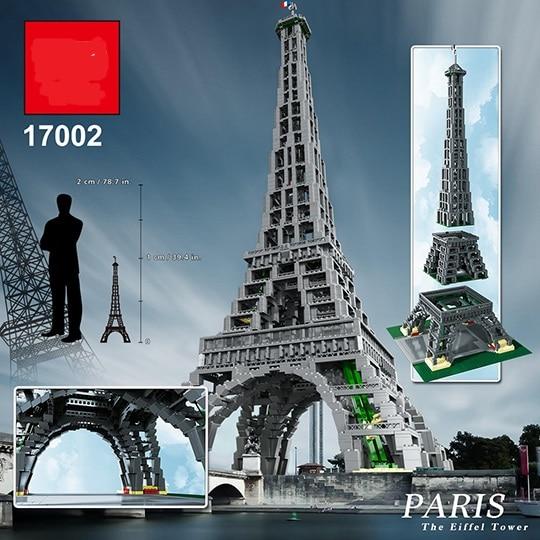 Lepinblocks 17002 City Street The Eiffel Tower modelo Building Assembling ladrillo DIY juguetes compatibles 10181 para regalos