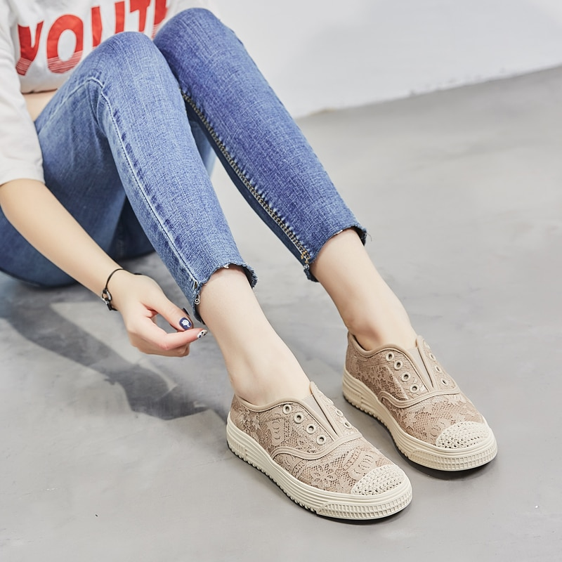 Women's shoes summer new 2021,Black Shoes for Women,Gothic,Casual,Woven,Comfort,Breathable,Lace,Rubb