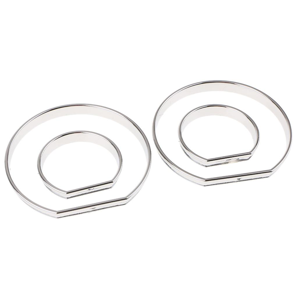 Cromado calibre tablero Dial anillos bisel ajuste velocímetro AC m-tech para BMW E46 M3