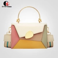 cg purse designer pu leather crossbody bags for women 2021 chain handbags with metal handle shoulder simple bag small totes bag