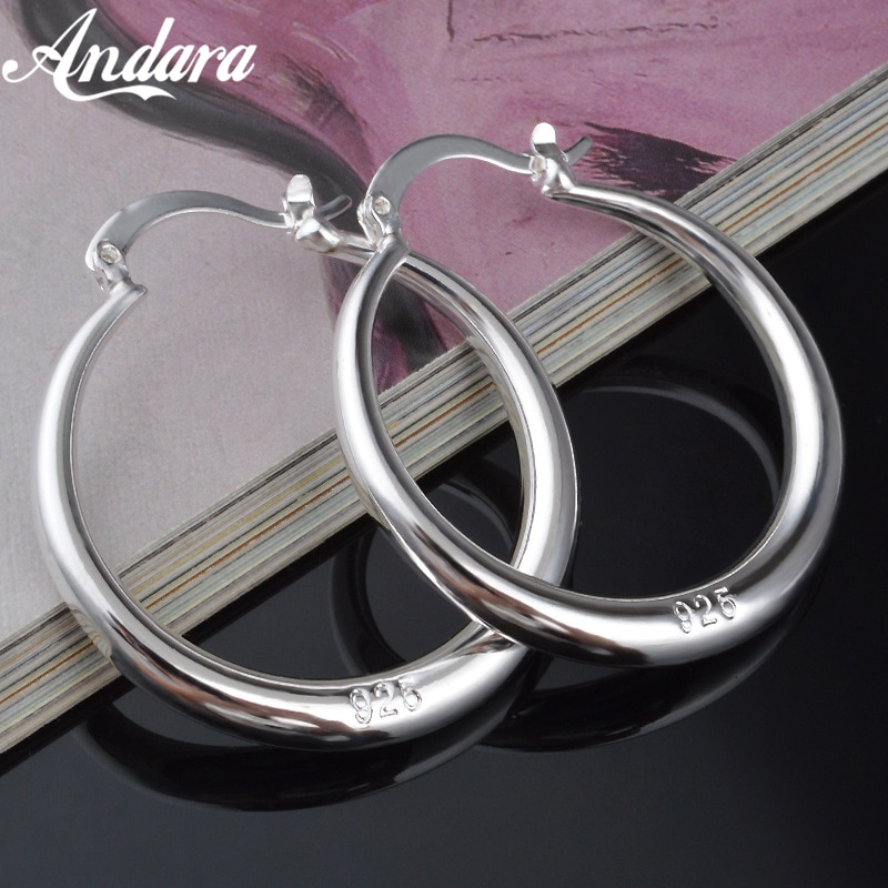 aliexpress.com - Wholesale Fashion Jewelry 925 Sterling Silver Earrings Smooth Round Earrings, Women'S Jewelry Gifts